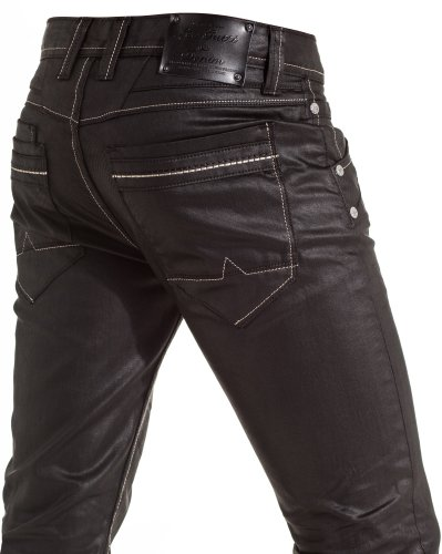 Leo Gutti - Fashion man jeans black oiled - Size: Fr 36 US 29 Color: Black