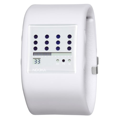 Nooka Unisex ZUB-ZOT-WT-38 Zub Zot White Polyurethane Watch