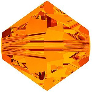 Swarovski #5328 Tangerine Bicones -3mm 24 Pieces