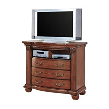 Bellagrand Media Chest TV Stand in Tobacco Oak by Furniture of America