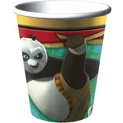 Kung Fu Panda Paper Cups 8ct