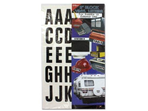 Block vinyl letters - Case of 144