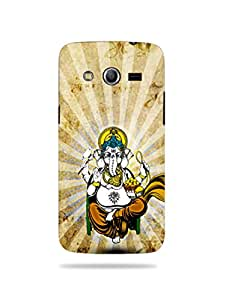 alDivo Premium Quality Printed Mobile Back Cover For Samsung Galaxy Core / Samsung Galaxy Core Printed Lord Ganesh Mobile Case / Cover (MKD075)