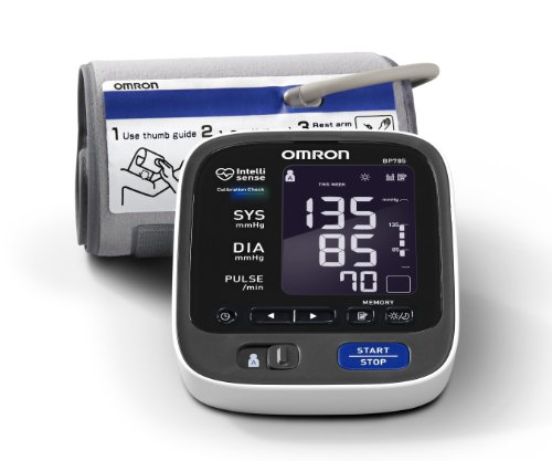 Cheap Omron BP785 10 Series Upper Arm Blood Pressure Monitor, Black/white (BP785)