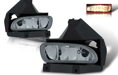 99-04 Ford Mustang OEM Fog Lights Smoke Lens Pair (Mustang Headlights 99 04 compare prices)