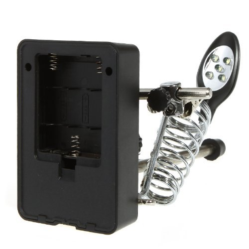 SODIAL(R) LED Lampe 2.5X 7.5X 10X Loupe Aider Auxiliaire Main Pince Alligator Clip Stand.