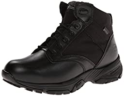 Timberland PRO Men\'s 5 Inch Valor Soft Toe WP Side-zip Duty Boot,Black Smooth With Textile,11 W US