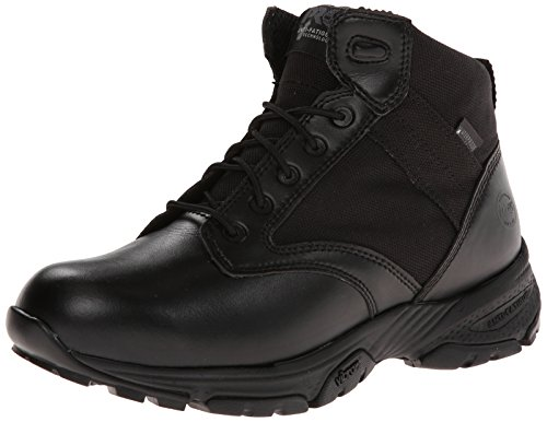 Timberland Pro Men'S 5 Inch Valor Soft Toe Wp Side-Zip Duty Boot,Black Smooth With Textile,9.5 M Us