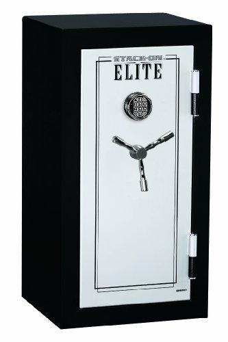 Stack-On E-040-Sb-E Elite Junior Executive Fire Safe With Electronic Lock, 3 Shelves, Matte Black/Silver front-1066245