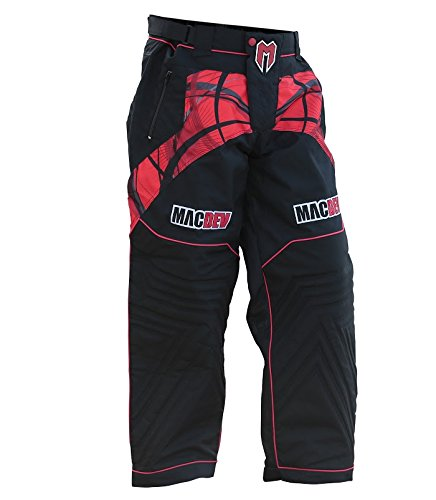 MacDev 2015 Paintball Pants - Professional Grade Playing Gear - Red / Black - Large (Paintball Slide Pants compare prices)
