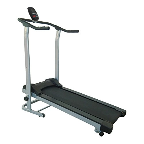 Sunny Health & Fitness SF-T1408M Manual Walking Treadmill, Gray