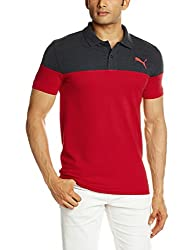 Puma Men's Cotton Polo (4056207147891_59144509_X-Large_Barbados Cherry DGH)