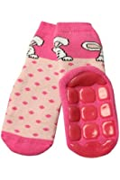 Weri Spezials Unisexe Bebes et Enfants ABS Eponge Lapin Pantoufle Chaussons Chaussettes Antiderapants Rose
