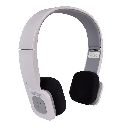 Eagle Tech Arion Arhp200Bf Foldable Bluetooth Headphone With Wireless Music Streaming And Hands-Free Calling , Includes Hard Travel Case - White/Grey