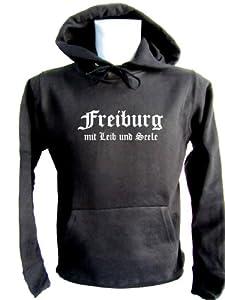Freiburg mit Leib und Seele; Kapuzen-Pulli schwarz