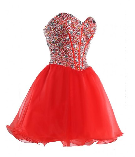 Efashion Women's Party Gala Dance Homecoming Dress Color Red Size 12