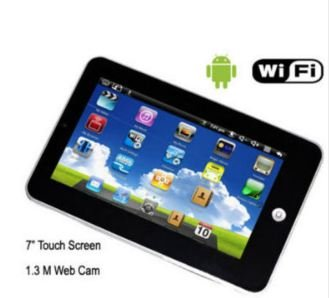 New 7 inch epad android 2.2 tablet pc WiFi 720pVideo 256MB Touch Screen 3G WIFI RJ45 Flash 10.1