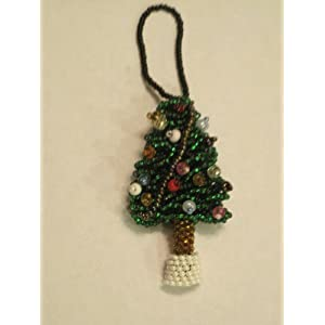 #!Cheap Guatemalan Handmade Beaded Christmas Tree Ornament