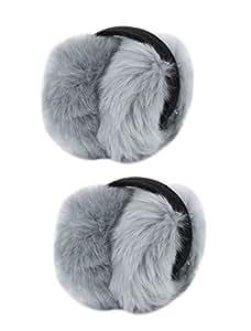 Lady Winter Warm Plush Foldable Warmers Earmuffs Ear Muffs 2 Pieces