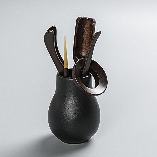 CCWY Black Kung Fu tea accessories set set of ebony wood ceramic 0 combination bamboo tea ceremony six men,Black-ebony