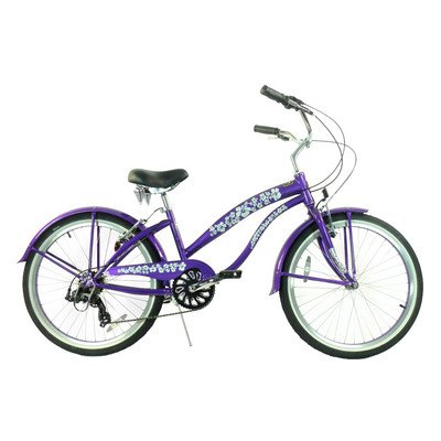 Women's 7 Speed Beach Cruiser Frame Color: Purple