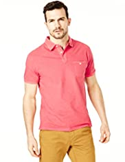North Coast Pure Cotton Feeder Striped Polo Shirt