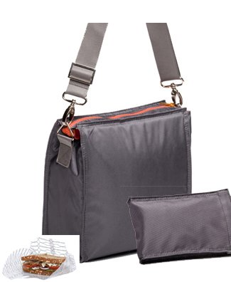 U-konserve Insulated Lunch Sack + Sweat-free Ice Pack + Food Cozy 2pk (Slate/slate/clear)