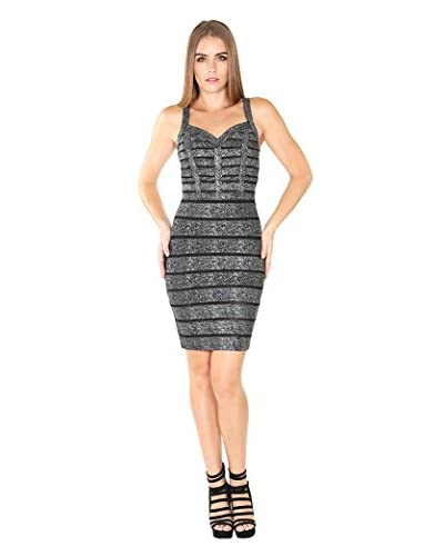 Wow Couture Women's Metallic Banded Dress