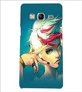 PrintDhaba Stylish Girl D-5417 Back Case Cover for SAMSUNG Z3 (Multi-Coloured)