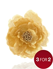 Gold Clip-on Flower Christmas Tree Decoration