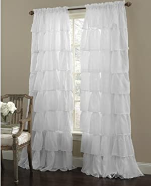 Gypsy Ruffled Panel White 60