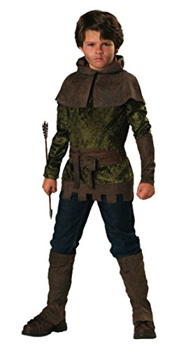 Boys Robin Hood Kids Child Fancy Dress Party Halloween Costume