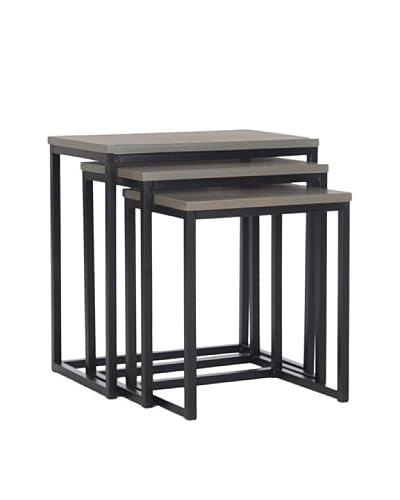 Safavieh Kaleb Set of 3 Stacking Tables, Ash Grey