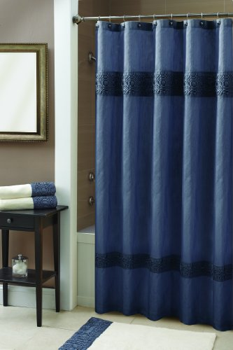 Croscill Giralda Shower Curtain 70 By 72 Inch Slate Blue Shower Curtains Outlet Shower