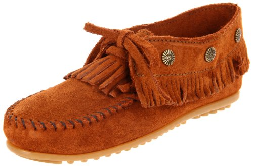 Minnetonka Women's 532 Fringed Moccasin,Brown,8 M US