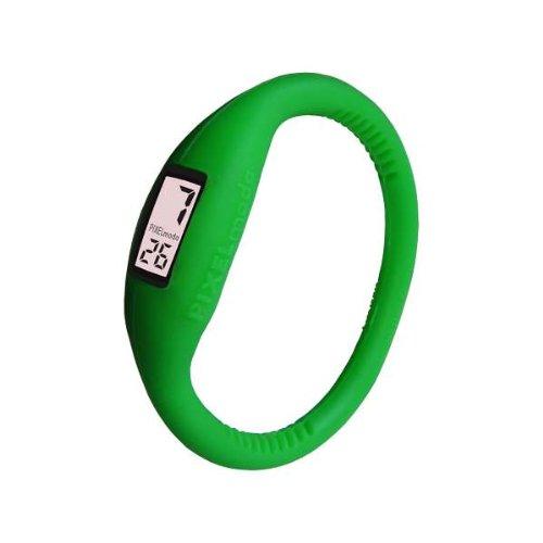 Pixelmoda Digital BRAZILIAN GREEN Color Water Resistant Italian Style Unisex Silicone Watch – SMALL 15 CM