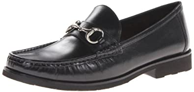 Florsheim Men's Tuscany Bit Slip-On Loafer,Black Smooth,7 D US