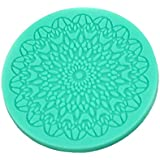 Tangchu Silicone Fondant Cake Mould Soap Mold Rose 3.93inch in Diameter Green