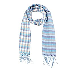 FabSeasons Blue Stripes Scarf, Scarves, Stole and Shawl for Men