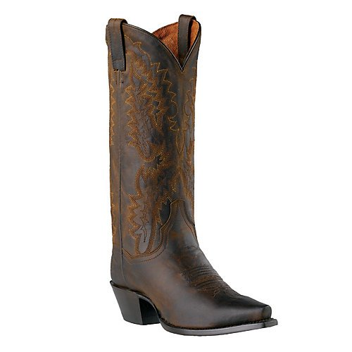 Dan Post Santa Rosa Ladies Dark Brown Leather Boots 6.5 W