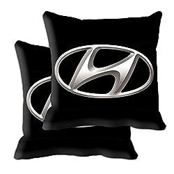 meSleep Hyundai Car Cushion Covers (12x12) with Filler- 2 Pc