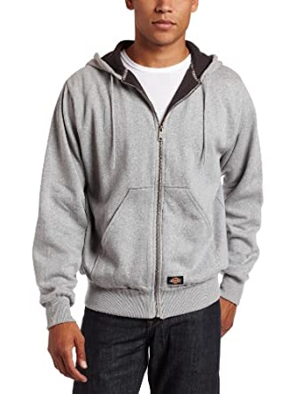 Dickies Men's Thermal Lined Fleece Jacket, Ash Gray, Small