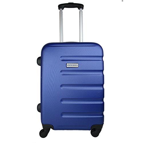 TROLLEY PIERRE CARDIN ABS RIGIDO CABINA 4 RUOTE BAGAGLIO A MANO (azzurro)
