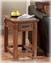 Hot Sale Signature Design by Ashley Cross Island Rectangular Wooden End Table