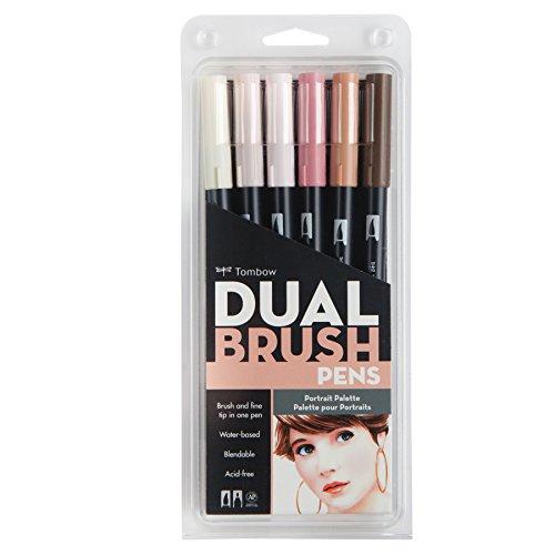 tombow-dual-brush-pen-art-markers-portrait-6-pack