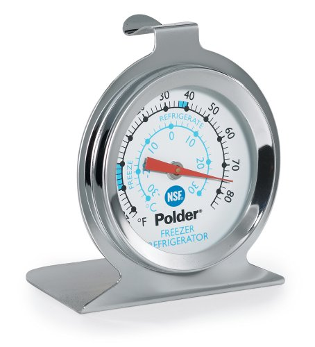 Polder THM-560N Fridge/Freezer Thermometer, Stainless Steel (Fridge Without Freezer compare prices)