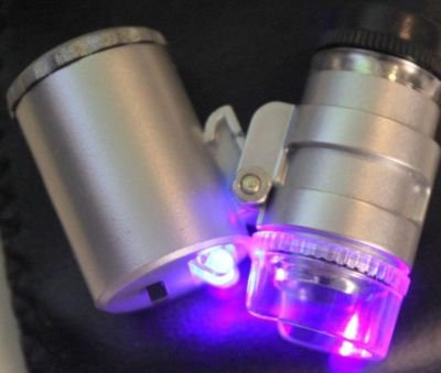 10 Jeweler Led 60X Magnifier Pocket Microscope Loupe W Ultraviolet Detection