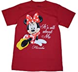 Disney Womens T Shirt All About Me Minnie T Shirt
