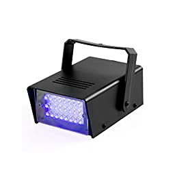 TSSS Mini Led Strobe Light 24LEDS Led Stage Light for Disco Party Haunted House Lighting Magical Show, Blue