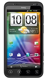 HTC Evo 3D Smartphone (10,9 cm (4,3 Zoll) Display, Touchscreen, 5 Megapixel Kamera, Android 2.3 OS) schwarz